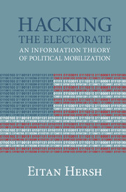 Eitan D. Hersh, Hacking the Electorate
