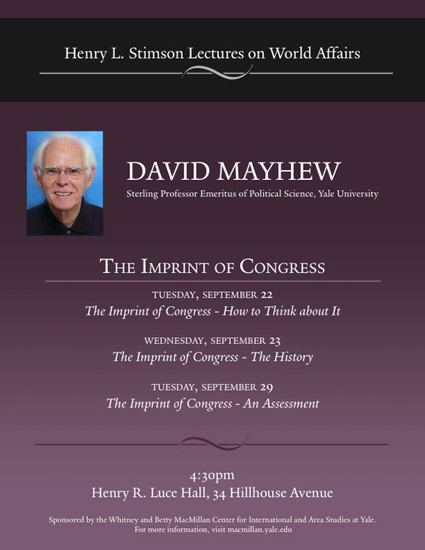 david mayhew electoral connection thesis